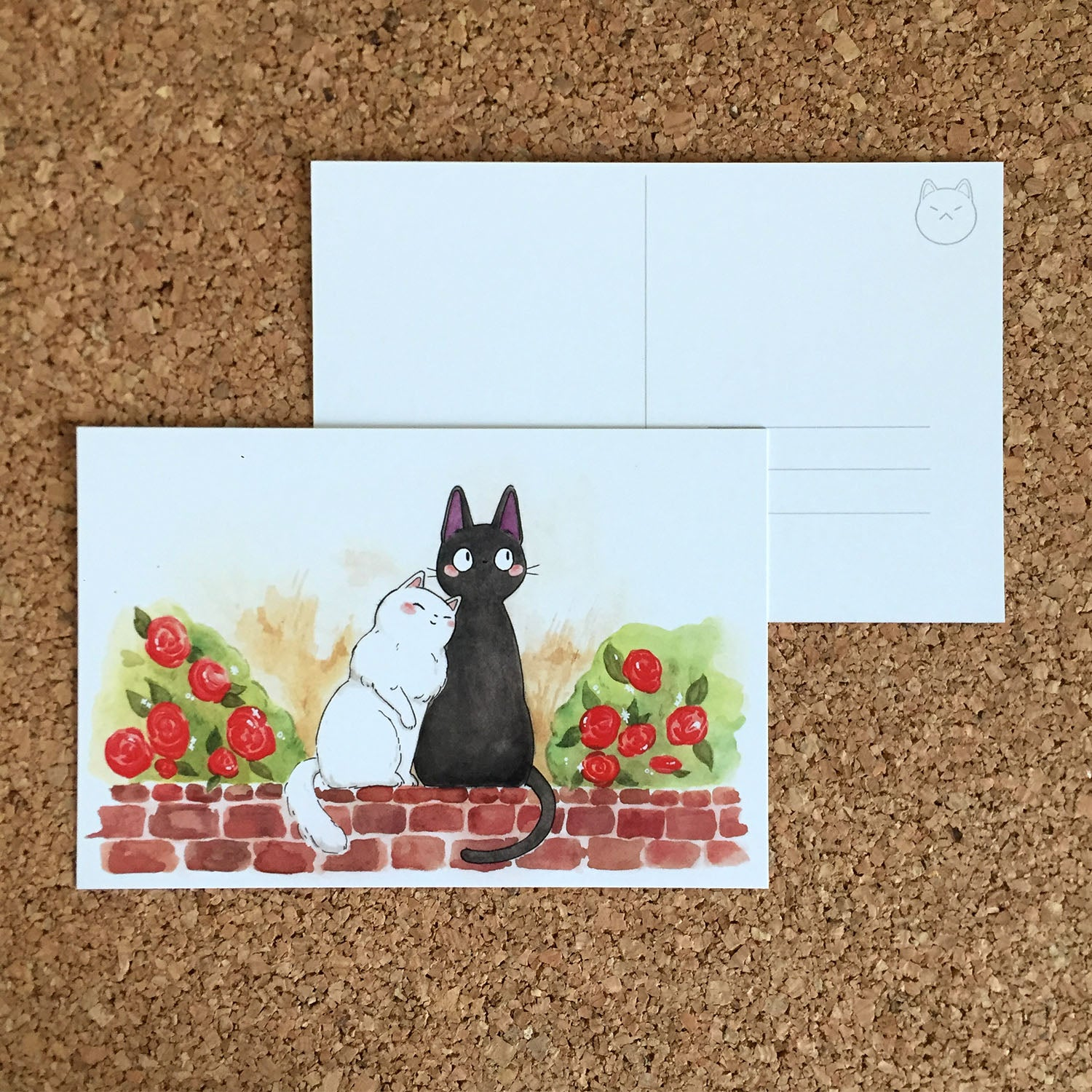 Jiji and Lily Postcard