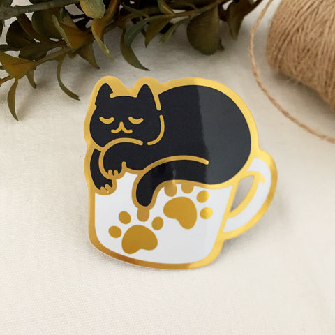 Cozy Coffee Cat (Mirror Finish V.1)