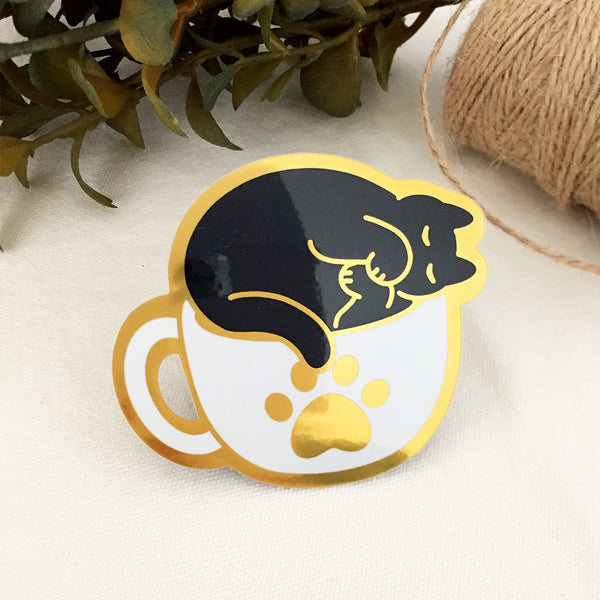 Cozy Coffee Cat (Mirror Finish V.2)