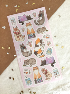 Neko Digital Sticker Sheet