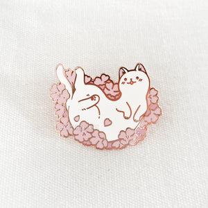 Sakura Kitty Enamel Pin