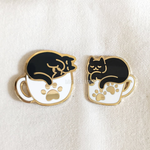 [SECONDS] Coffee Cats Hard Enamel Pin