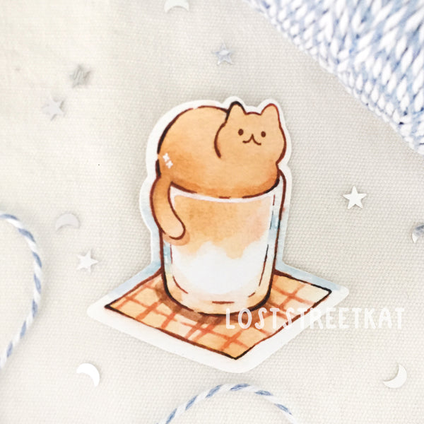 Dalgona Coffee Sticker - loststreetkat
