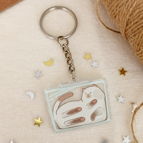 Cats Are Liquid (Puyo) Acrylic Keychain