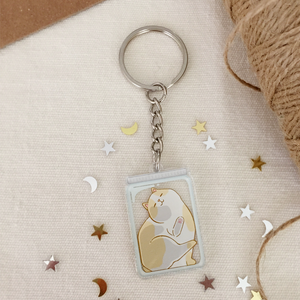 Cats Are Liquid (Pan) Acrylic Keychain