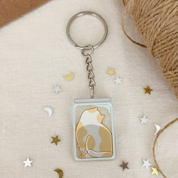 Cats Are Liquid (Pan) Acrylic Keychain - loststreetkat