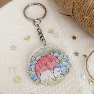 Umbrella Cat Keychain - loststreetkat