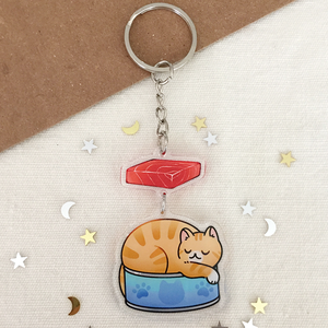 Tuna Cat 2-Part Acrylic Keychain - loststreetkat