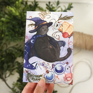 Sorcerer Cat Postcard