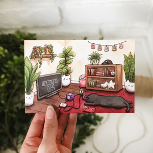 Retry Postcard - loststreetkat