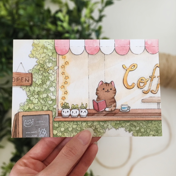 **SECOND** Ivy Cafe Postcard - loststreetkat