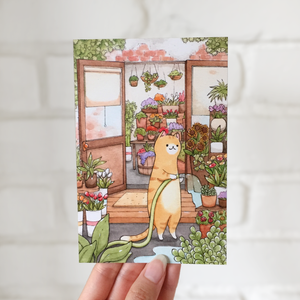 **SECOND** Gardening Kitty Postcard - loststreetkat