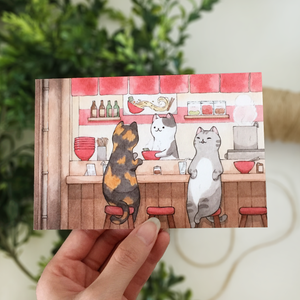 **SECOND** Ramen Cats Postcard - loststreetkat
