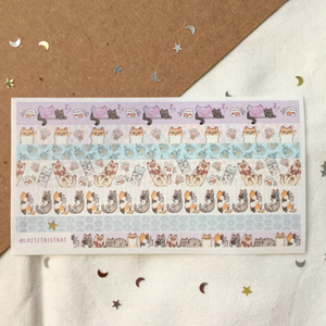 Neko Digital Washi Tape Sheet - loststreetkat