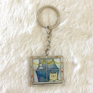 Window Cat Keychain