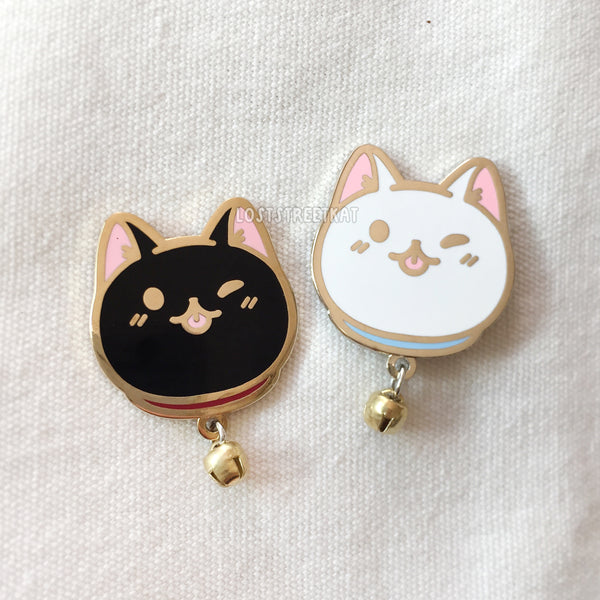 [SECONDS] Cat with Bells Hard Enamel Pin