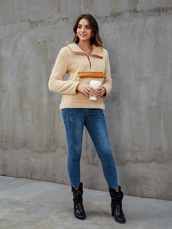 Apricot Shift Casual Solid Outerwear