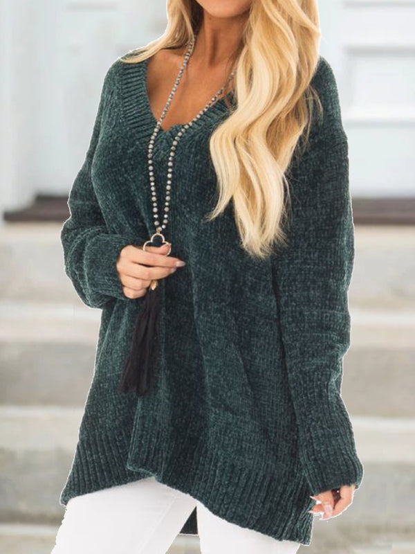 Women Casual Plus Size Pullover Sweater