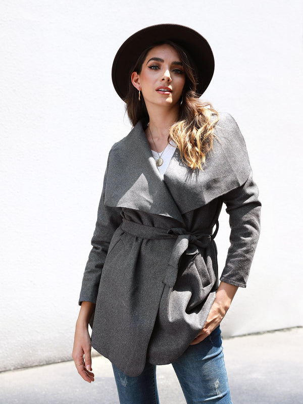 Shift Long Sleeve Outerwear With Belt