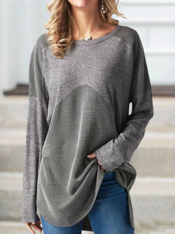 Women Round Neck Casual Tops