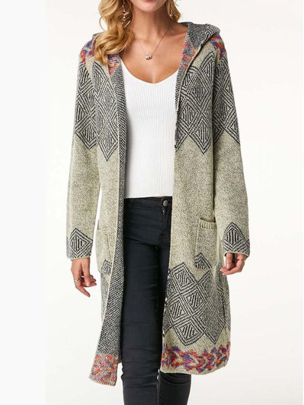 Plus Size Long Sleeve Tribal Sweater
