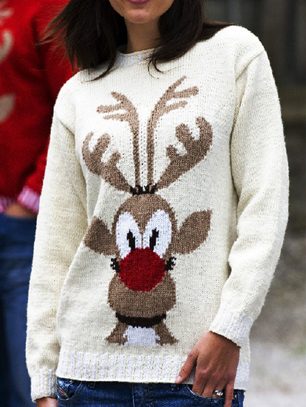 Christmas Basic Knitted Long Sleeve Sweater