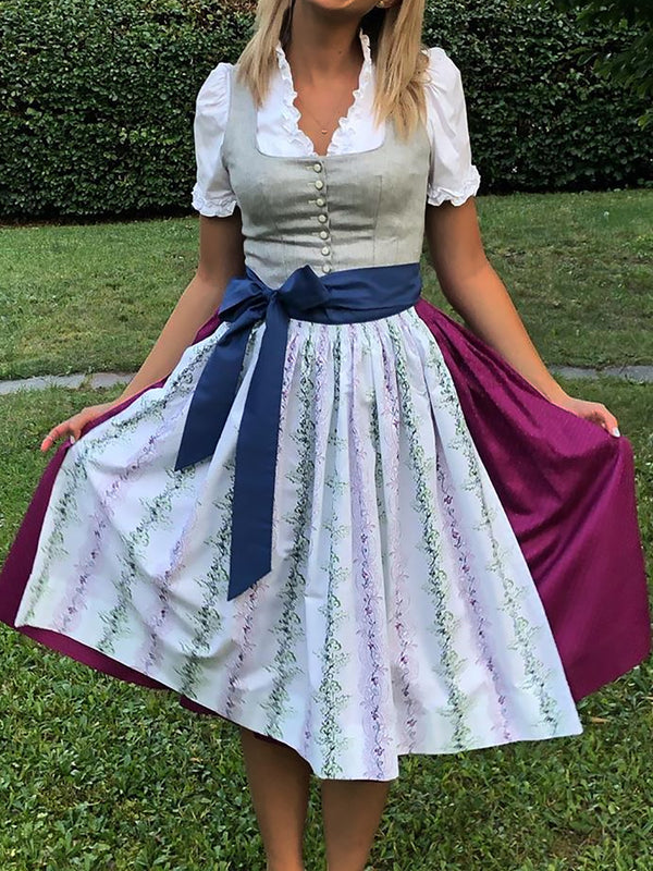 Vintage Fashion Women Plus Size Dirndl Dresses