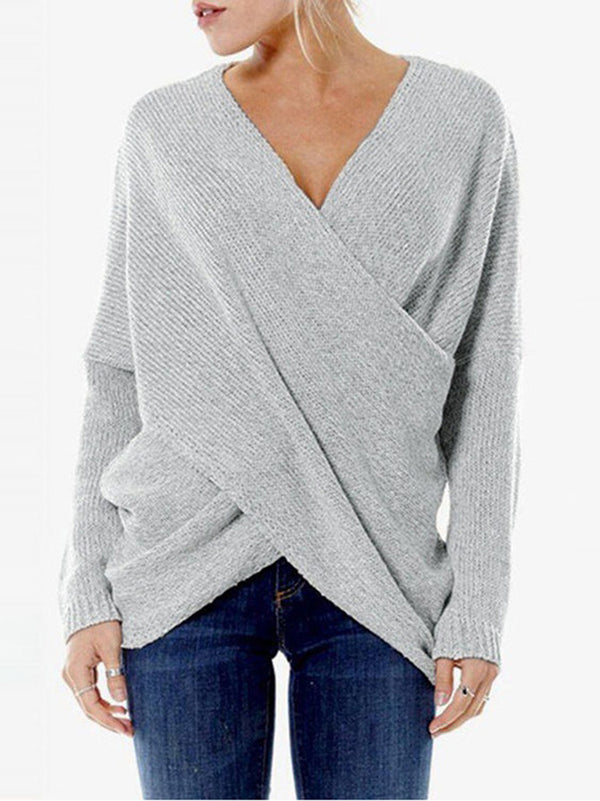 Long Sleeve Cotton Sweet V Neck Outerwear