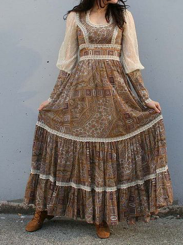 Plus size Vintage Printed Dresses