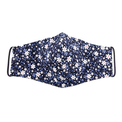 Reusable Cotton Mask - Blue Daisy