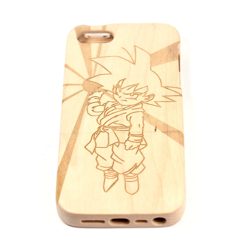 Dragonball GT Goku iPhone 4/4S case Maple - BC Plugs  - 1