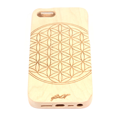 Flower of life iPhone 4/4S case Maple - BC Plugs  - 1