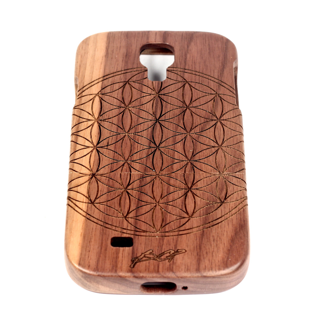 Flower of Life Galaxy S4 Walnut - BC Plugs  - 1