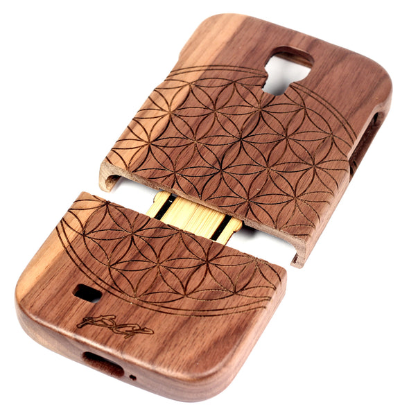 Flower of Life Galaxy S4 Walnut - BC Plugs  - 2