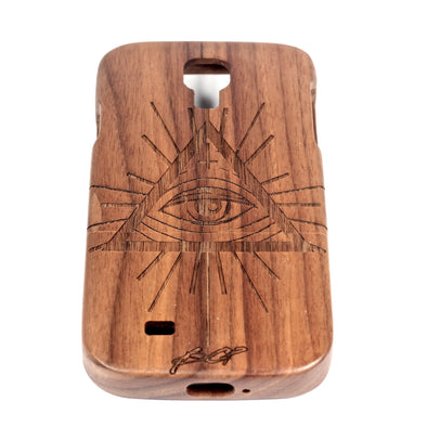 All Seeing Eye Galaxy S4 Walnut - BC Plugs  - 1