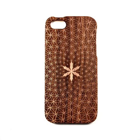 iPhone 4/4S case Walnut Flower of Divinity - BC Plugs  - 1