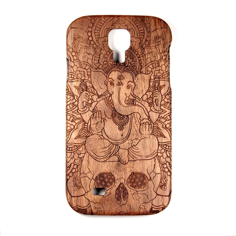 Galaxy S4 Walnut Ganesh Skull - BC Plugs  - 1
