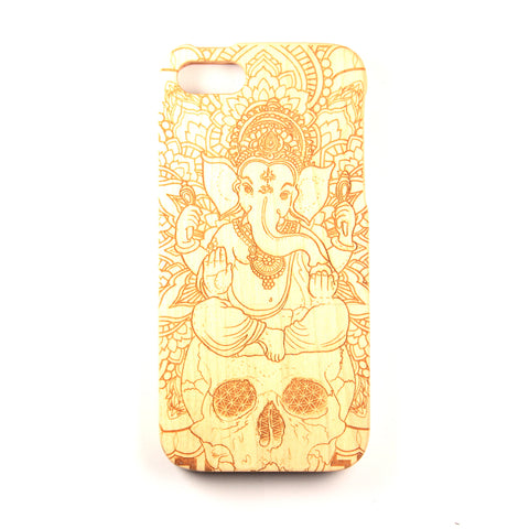 iPhone 4/4S Maple Ganesh Skull - BC Plugs  - 1