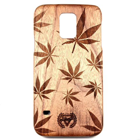 Galaxy S5 Walnut Cannabis - BC Plugs  - 1