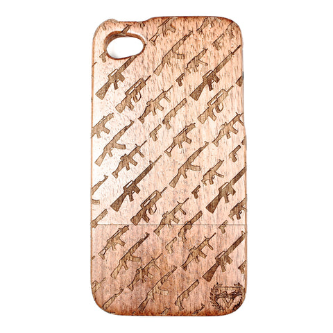 iPhone 4/4S Walnut Artillery - BC Plugs  - 1