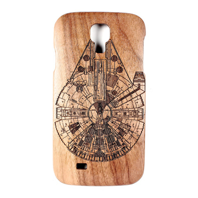 Galaxy S4 Walnut Millennium Falcon - BC Plugs  - 1