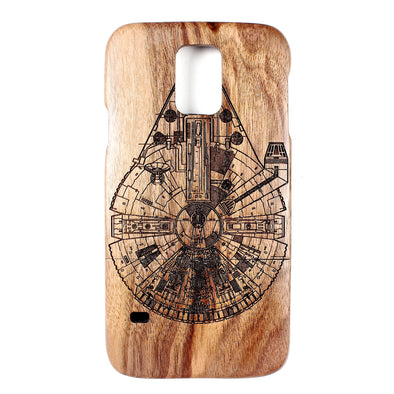 Galaxy S5 Walnut Millennium Falcon - BC Plugs  - 1