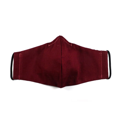 Reusable Cotton Mask - Maroon