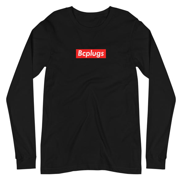 Bcplugs box logo Long Sleeve Tee