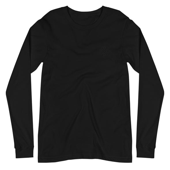 Blackout embroidered Long Sleeve Tee