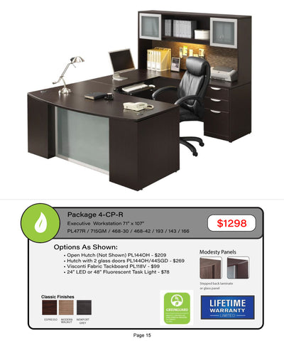 "Executive Workstation 71"" x 107"""