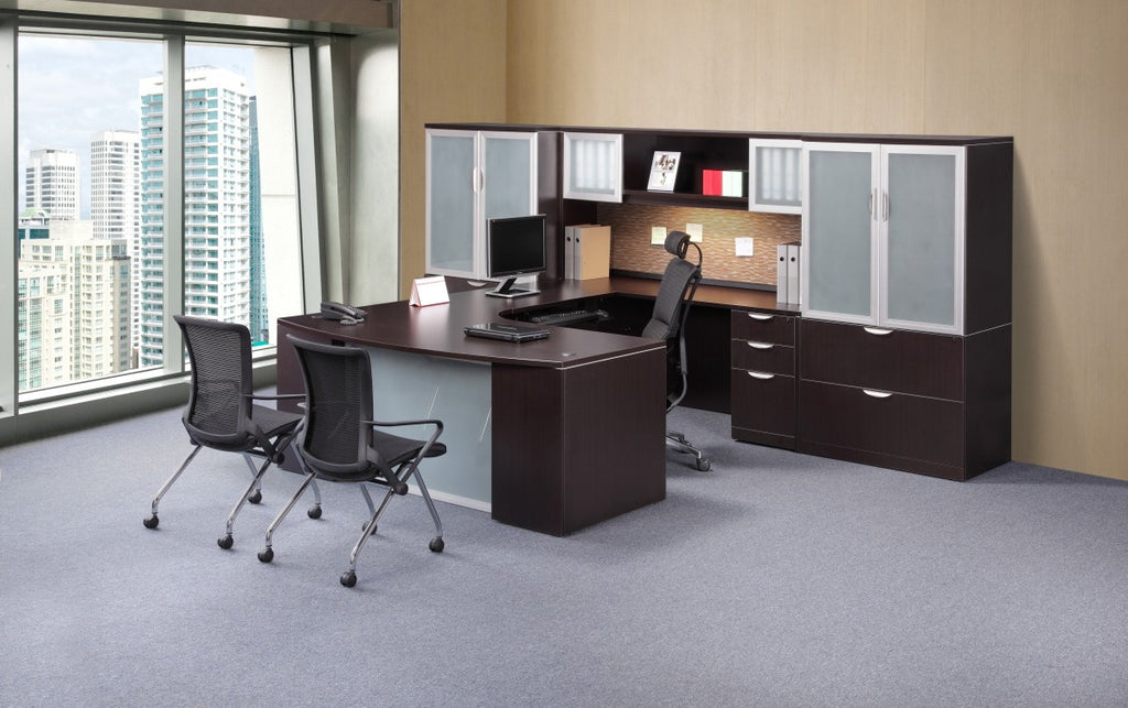 Classic Plus - Executive Bowfront Workstations - Right hand