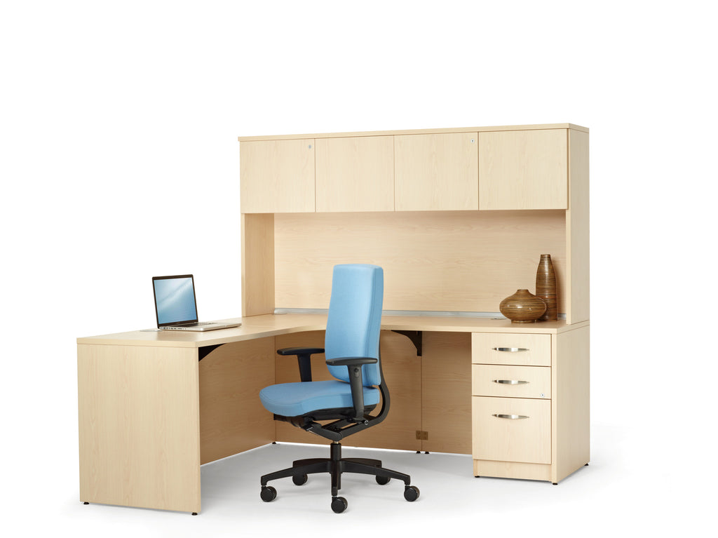 Metropolis Corner Desk with Hutch