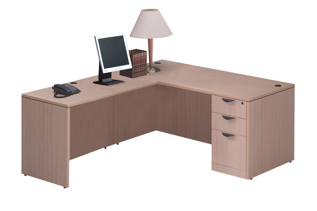 "Desk with 24"" x 47"" Return & Full Pedestal 60""W x 30""D"