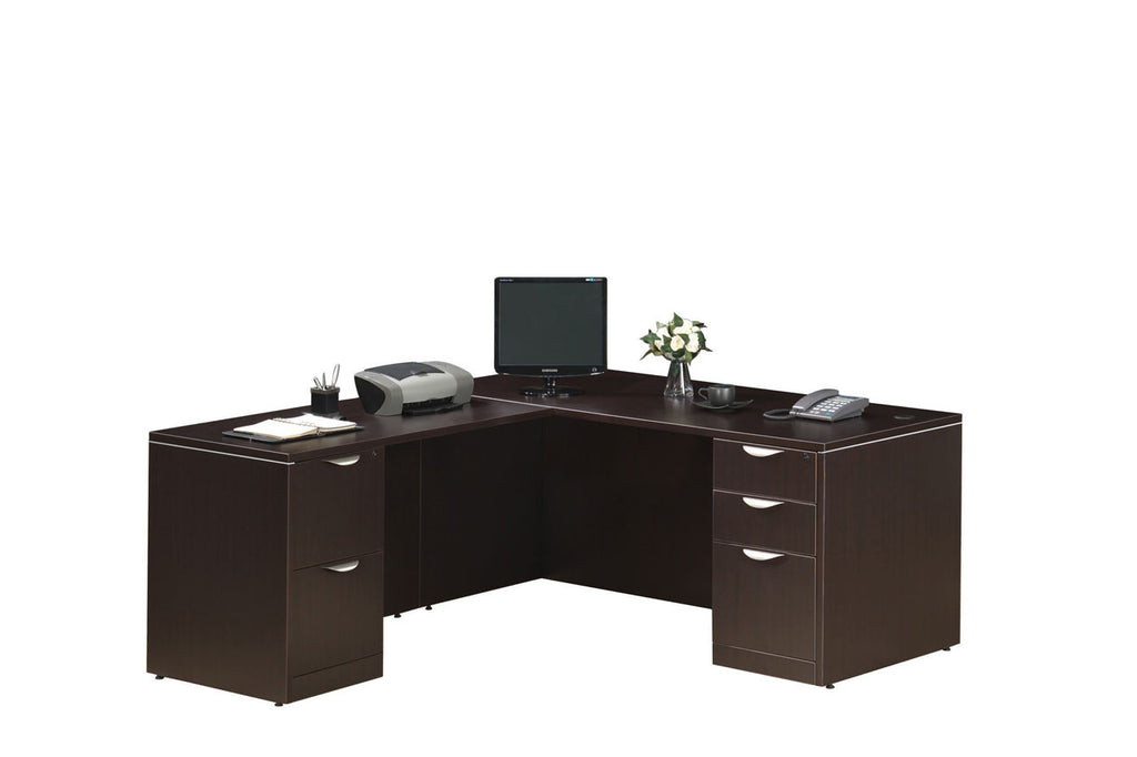 "Desks with 24"" x 47"" Return & 2 Full Pedestals"